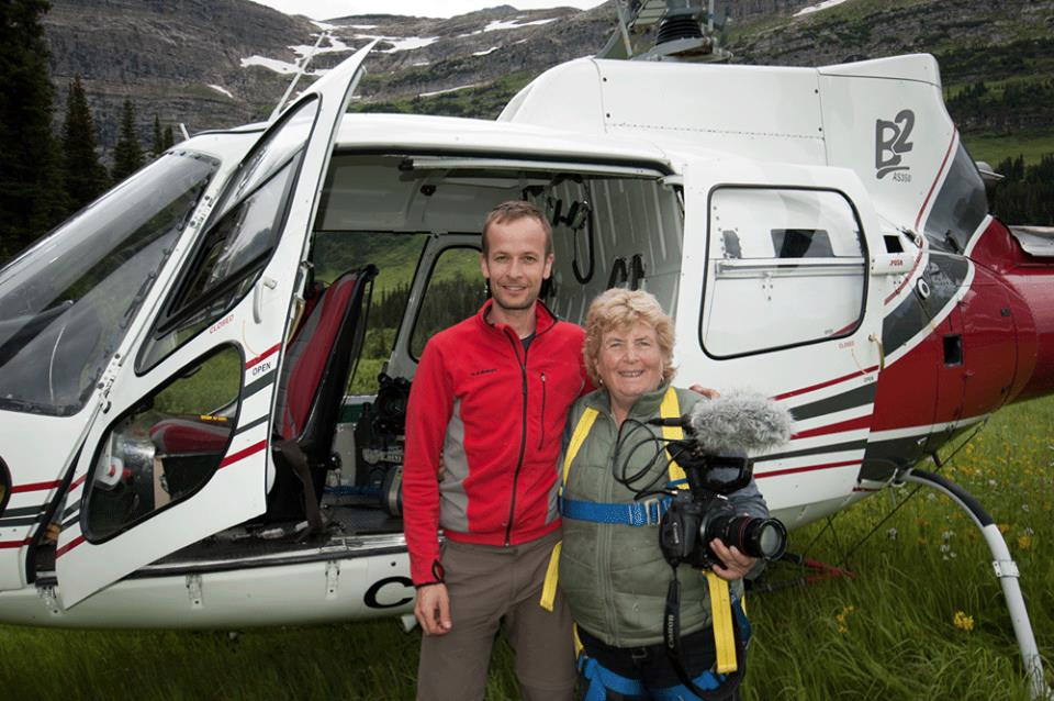 Ivan Mooser Pacific Western Helicopter Pilot and Susan Feddema-Leonard, People & Peaks Productions Cinematographer
